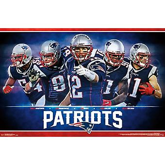 New England Patriots - Team 16 Poster Print