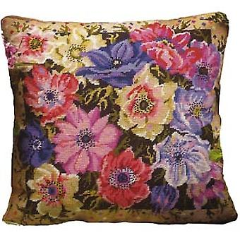 Anemone Garden Needlepoint Canvas