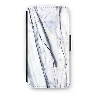 iPhone 8 Plus Flip Case - gestreiften Marmor