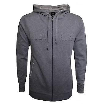 Hugo Boss Leisure Wear Hugo Boss Men's Grey Heritage Hooded Zip Through Sweatshirt