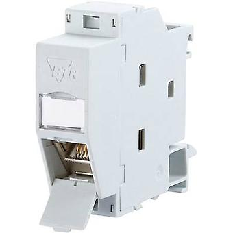 Network outlet DIN rail CAT 6A Metz Connect 1309107003-E