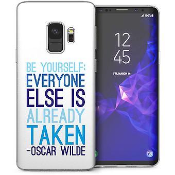Samsung Galaxy S9 Oscar Wilde Quote TPU Gel Case – White