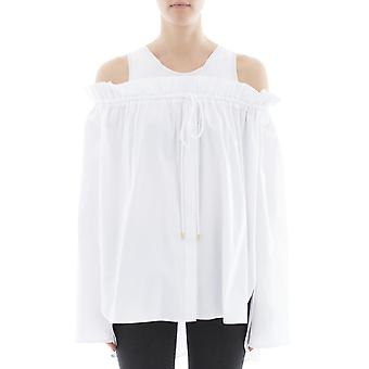 Alberta Ferretti women's 021316281 white cotton blouse