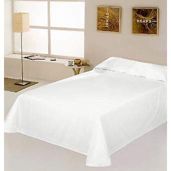 ES-TELA Rustic bedspread / bedspread smooth optical white tinted thread