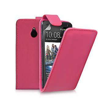 Yousave accesorios HTC One Mini cuero-efecto tirón caso - rosa