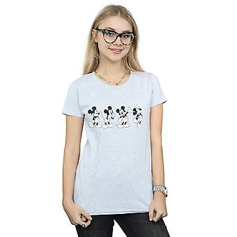Disney Women's Mickey Mouse Four Emotions T-Shirt