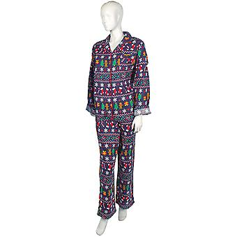 Christmas Womens/Ladies Long Sleeve Button Up Festive Print Pyjamas