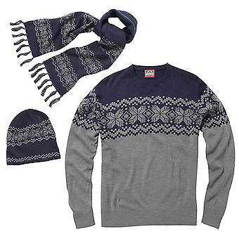 Christmas Mens & Womens Nordic Knitted Jumper, Hat And Scarf Set