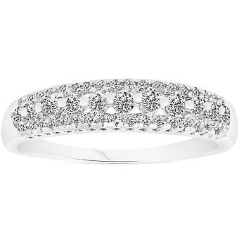1/4 carat Diamond Wedding Ring 10 KT White Gold