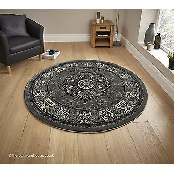 Nerima grå cirkel matta