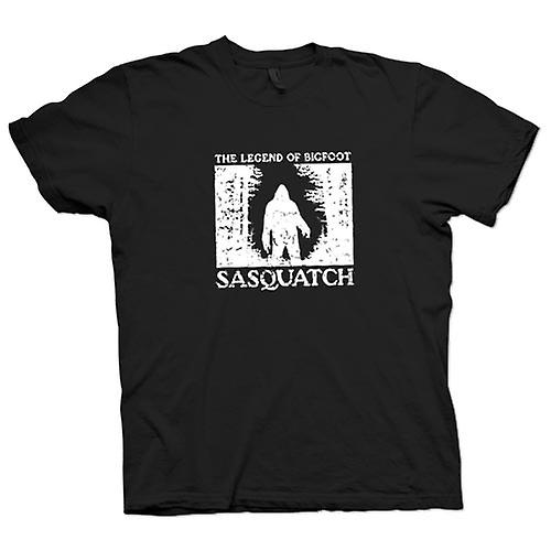 Womens T-shirt - Sasquatch Yeti Bigfoot Sighting - Cryptozoology