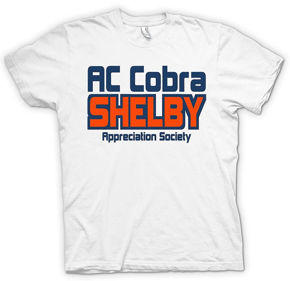 Mens t-skjorte-AC Cobra Shelby Appreciation Society