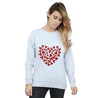 Disney Women's Mickey Mouse Heart Silhouette Sweatshirt