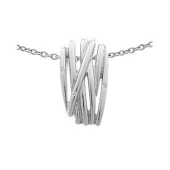 Orphelia Silver 925 Chain With Pendant Lines Zirconium  ZH-6038