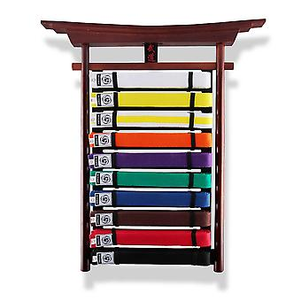 Bytomic veggmontert Budo belte Display Rack