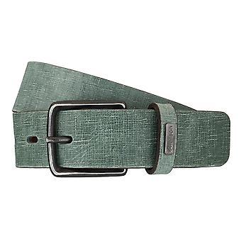 Strellson belts men's belts leather belt green 5946
