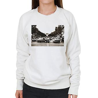 Citroen DS Paris Arc De Triomphe Women's Sweatshirt