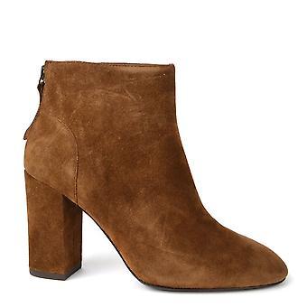 Ash Footwear Joy Russet Suede Heeled Boot