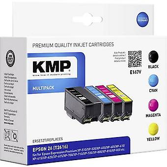 KMP Ink replaced Epson T2616, 26 Compatible Set Bl