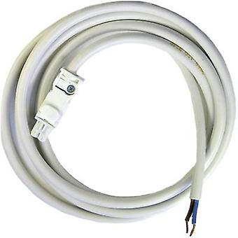 AC connection cable for LED light series 7L Finder 07L.01 AC connecting cable 2 x 1.5 mm², 2 m, white socket/white cable