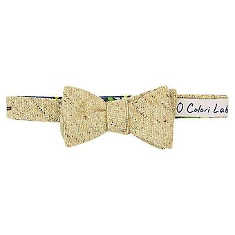 40 Colori Melange Wool Butterfly Bow Tie - Beige