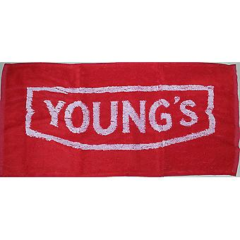 Youngs Beer Red Cotton Bar Towel