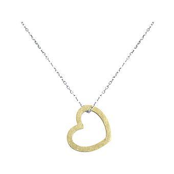 Gemshine  - Damen - Herz - Halskette - Anhänger - 925 Silber - Vergoldet - 2,5 cm