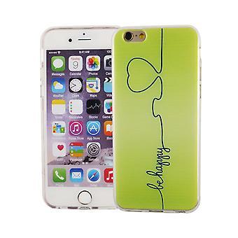 Cas de téléphone portable pour Apple iPhone 6 / 6 s housse case sac de protection motif slim silicone TPU être heureux vert