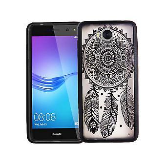 Mobile Shell mandala for Huawei Y5 2017 design tilfælde dække design dream catcher dække kofanger sort