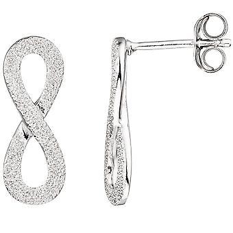 Silver dubbar infinity 925 sterling silver frostat träd örhängen