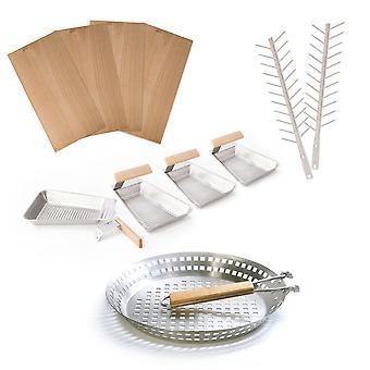 Ensemble de grill: Grill planches Grill brochettes casseroles Grill Pan
