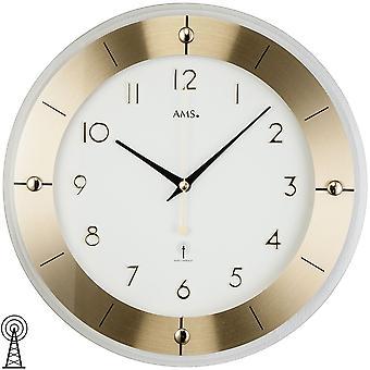 Дистанционно управляемые настенные часы латуни лаковая граненый минеральное стекло настенные часы