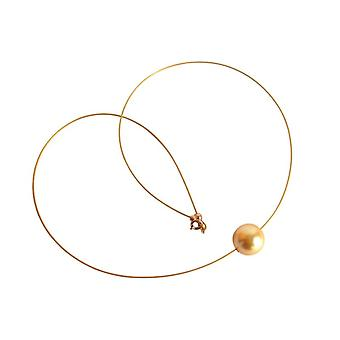 MK Pearl Necklace pearls necklace 12 mm gold plated