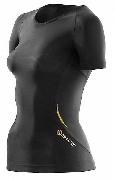 SKINS A400 Woman´s Short Sleeve Black Top B33156004