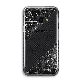 سامسونج Galaxy XCover 4 شفافة القضية (الناعمة)-الرخام الأسود