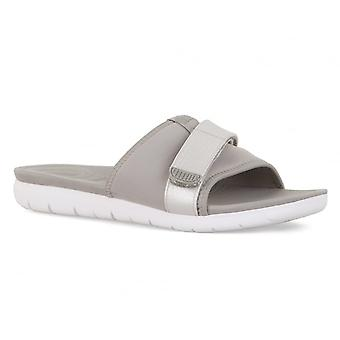Fitflop FitFlop Womens Neoflex Slide Sandals (Grey)