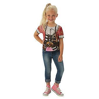 Pirate T-Shirt girls girl pirate shirt Pirate Costume for children
