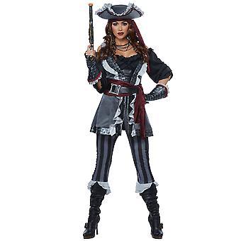 Captain Blackheart Deluxe Pirate Swashbuckler Buccaneer Womens Costume