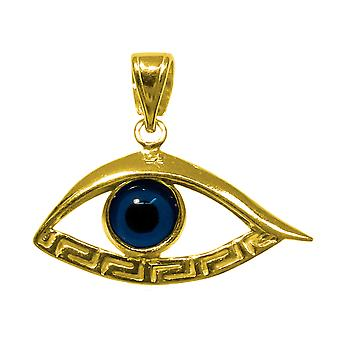 تراكب الذهب 18 قيراط فضة مطلي العين ميندروس قلادة