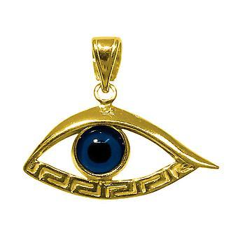 Srebro złoto 18 Karat nakładka chromowana Evil Eye wisiorek Meandros