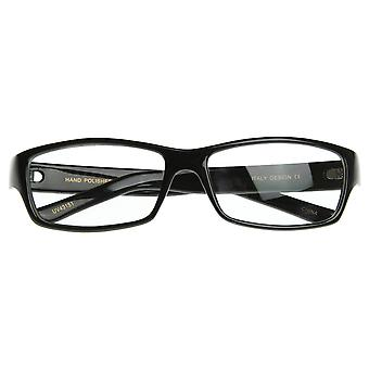 Rectangular Thin Frame Basic Style RX-able Quality Clear Lens Eyewear Glasses