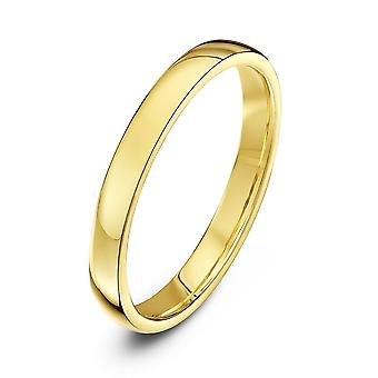 Stjärnan vigselringar 18ct gult guld ljus domstolen form 2,5 mm vigselring