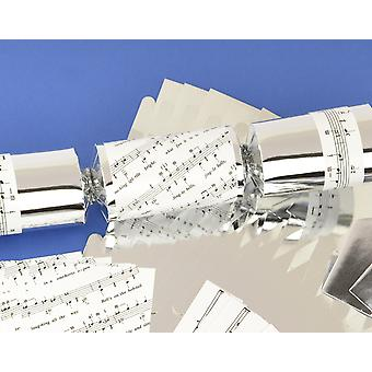 8 Silver Foil Jingle Bells Make & Fill Your Own Christmas Crackers Kit