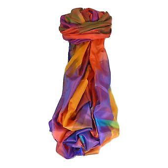 Malik de Benarés Ekal Premium seda largo bufanda patrimonio alcance 9 por Pashmina y seda