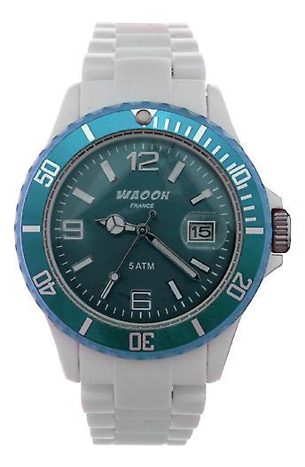 Waooh - Montre MILANO38 Cadran & Lunette Transparente Couleur