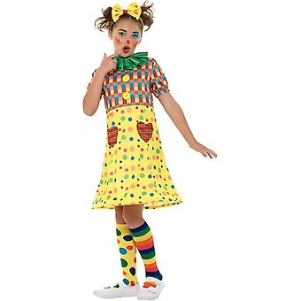 Girls Clown Circus Costume, Girls Fancy Dress, Medium Age 7-9