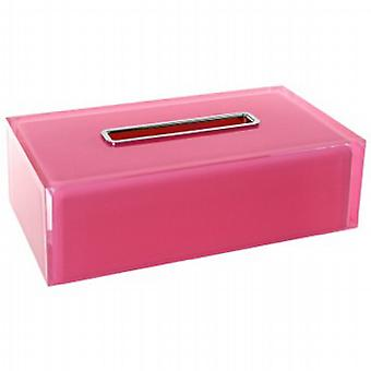Gedy Rainbow Rectangular Tissue Box Pink RA08 76