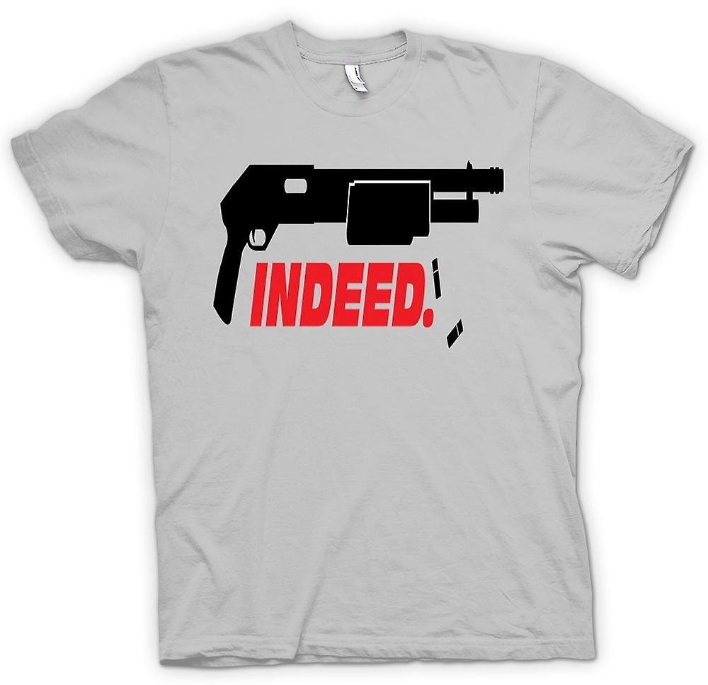 Mens T-shirt - inderdaad Shotgun - anarchie - Funny