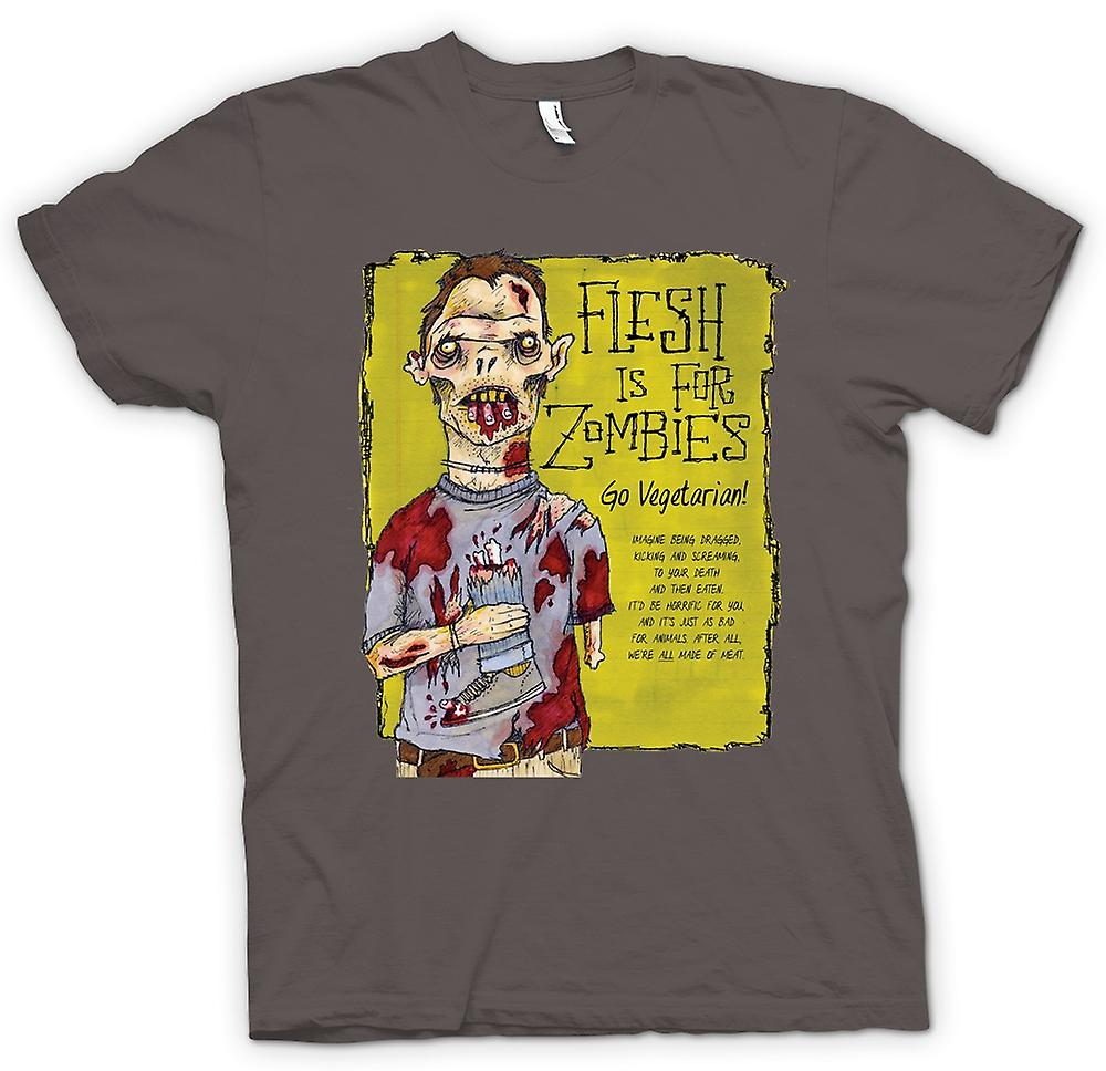 T-shirt van vrouwen - Flesh Is For Zombies Go Vegetarisch