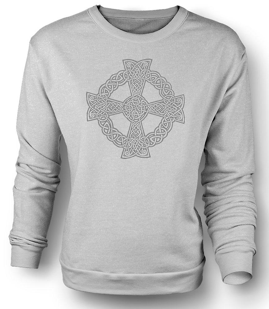Mens Sweatshirt Keltisch kruis 1 - Tattoo Design
